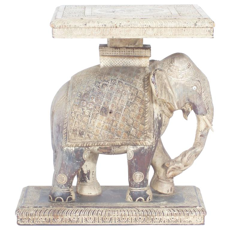 Rustic Anglo Indian Elephant Table 1