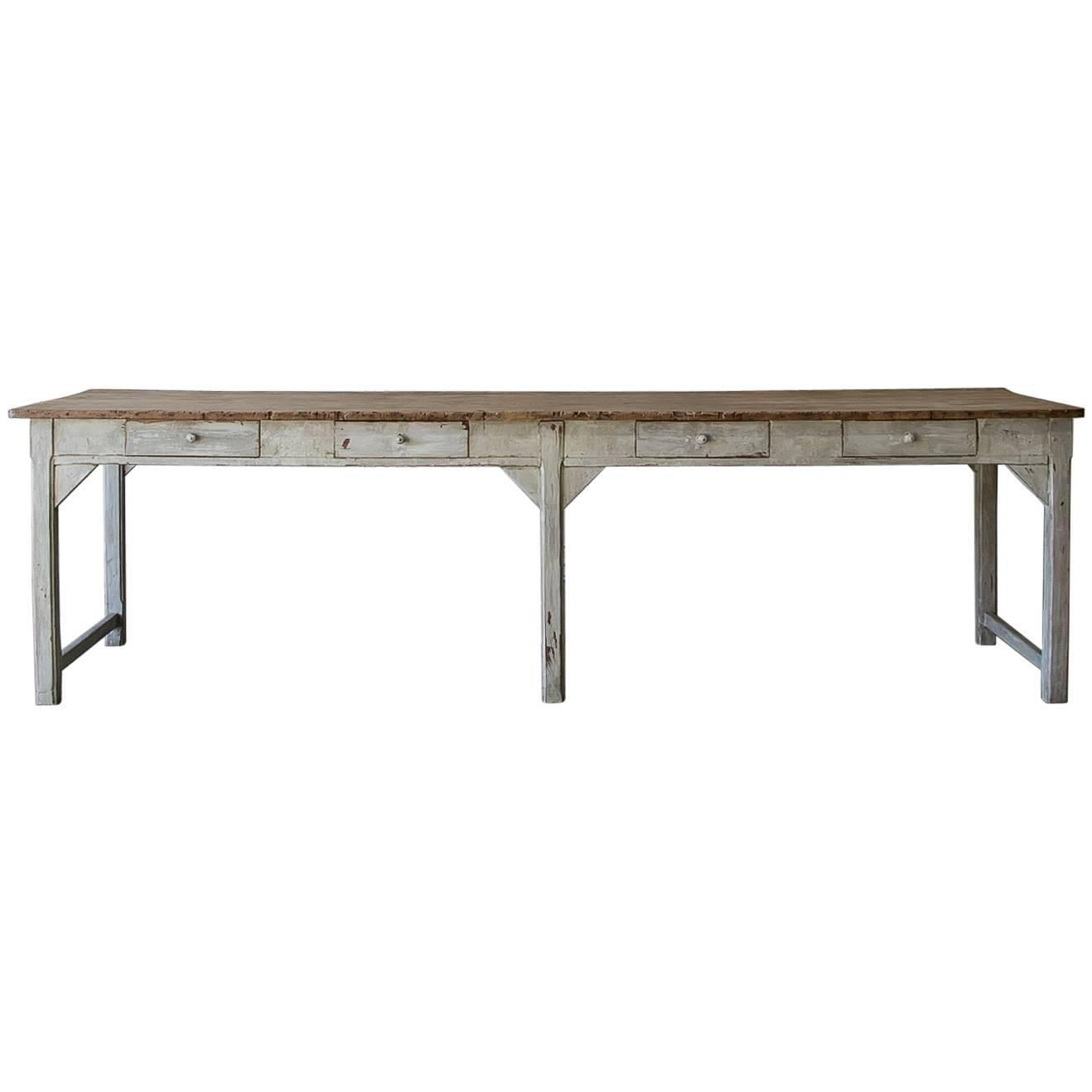 Antique French Workshop Table At 1stdibs