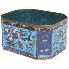 Chinese Cloisonné Octagonal Cachepot or Box, circa 1900