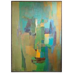 Modern Abstract Painting of a Womans Face