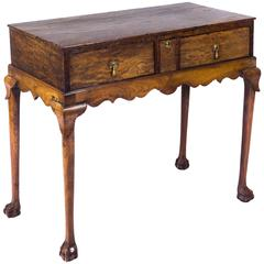 Rare Early 18th Century Country Made Burr Yew Lowboy