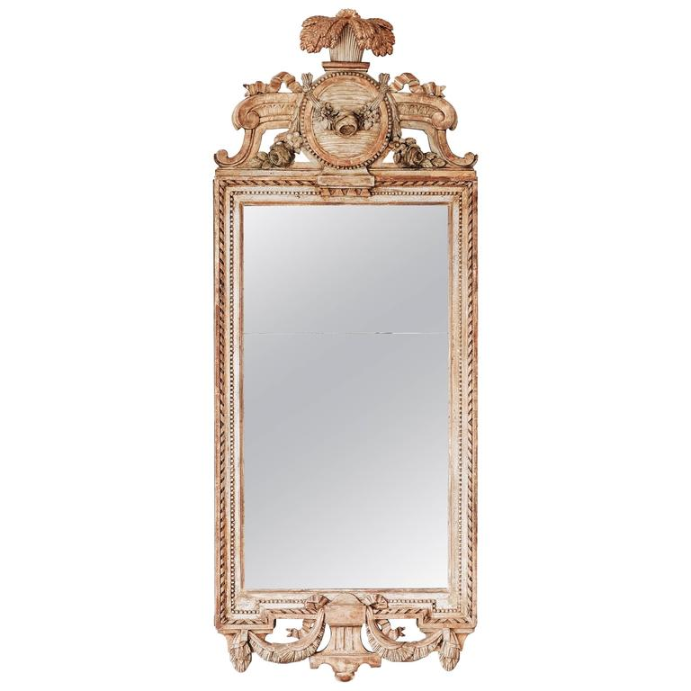18th Century Swedish Gustavian Giltwood Mirror