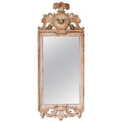 18th Century Swedish Gustavian Giltwood Mirror