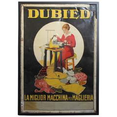 Dubied Italian Tin Advertising Sign