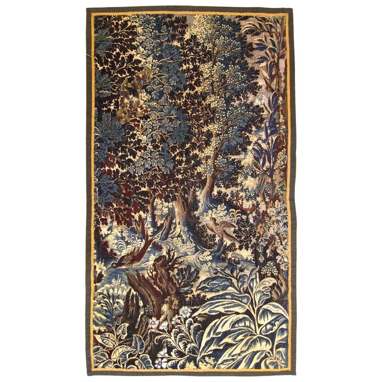 Antique 17th Century Flemish Verdure Tapestry {from Ralph Lauren window display}