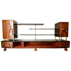 Frank Kyle Wall Unit Bookcase or Dry Bar