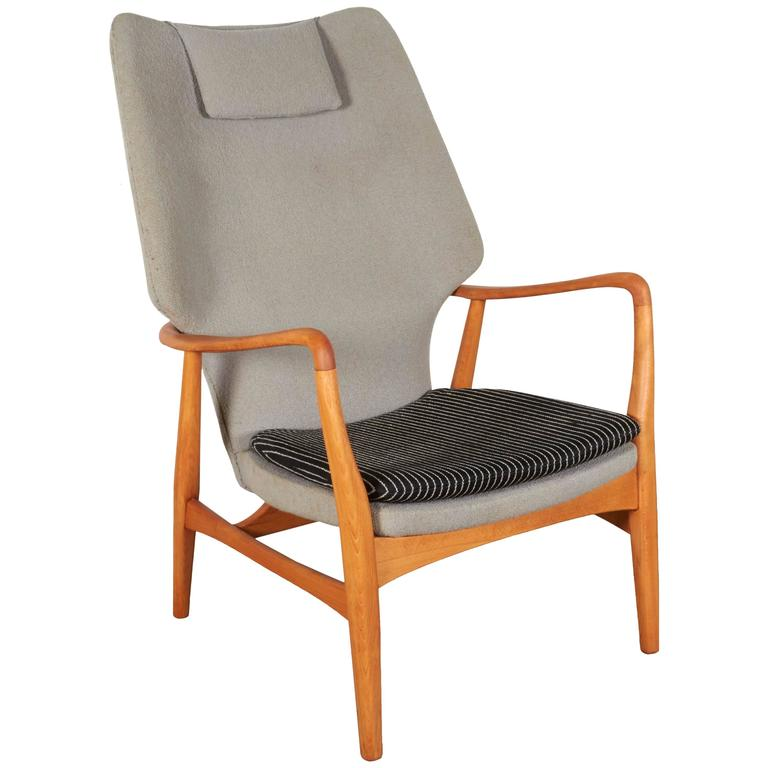 Modern Wingback Danish Armchair By Mattson Schubel For