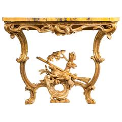 Carved Giltwood Console Table