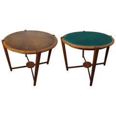 Midcentury Walnut & Oak Game Table