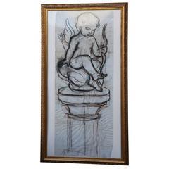 Artist's Sketch; Angel on Column by Venetia Epler
