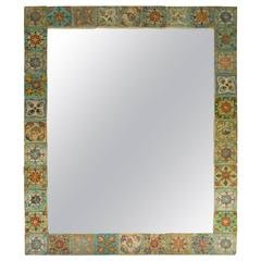 Large One of a Kind Persian Tile Mirror