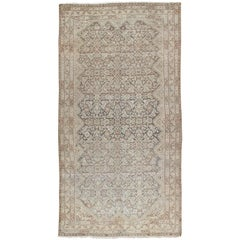 Antique Malayer Carpet, Handmade Oriental Rug, Ivory, Gray, Taupe, Fine Allover