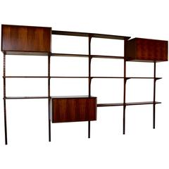 1958 Danish Rosewood Cado Wall Unit by Poul Cadovius