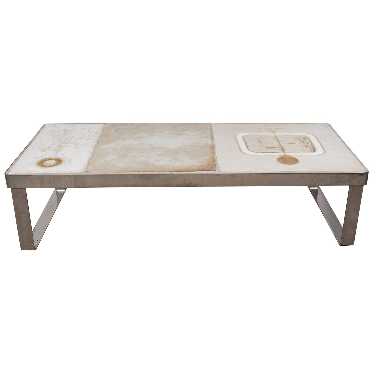 Ceramic Coffee Table Artist Unkown France Circa 1950 At 1stdibs