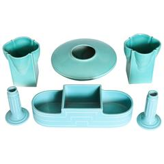 Art Deco Modernist 1930s Ceramics by Trenton Art Pottery, Signed, Price Reduced