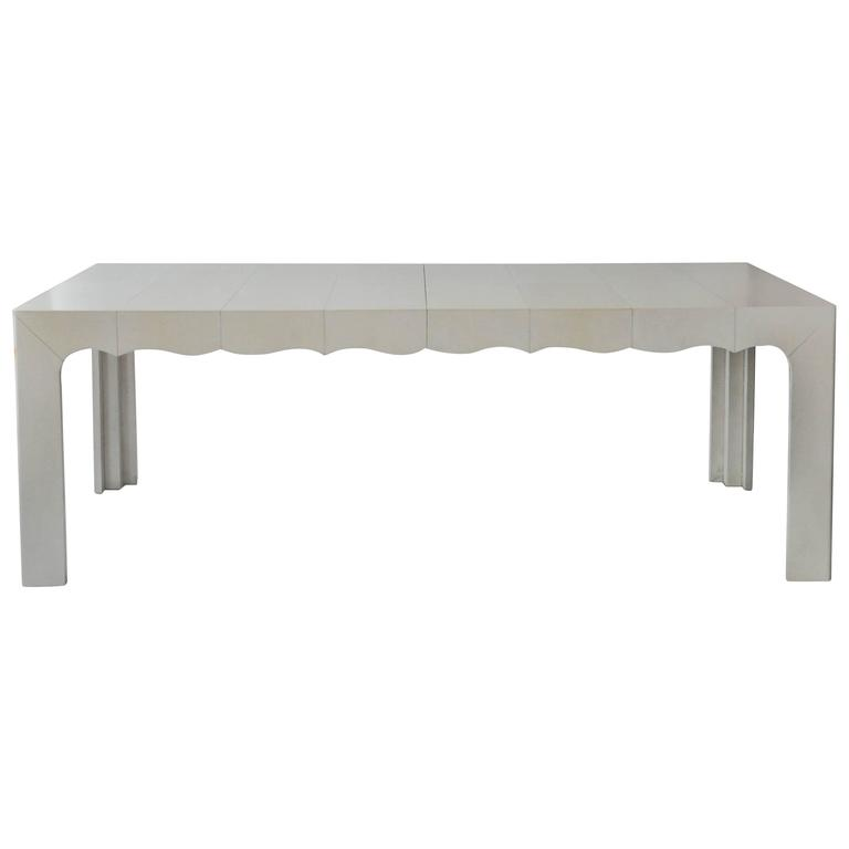 Custom Andre Dining Table With Scallop Detail For Sale At