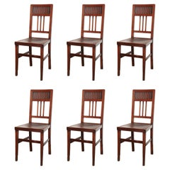 Set of Six Late 19th Century Viennese Dining Chairs