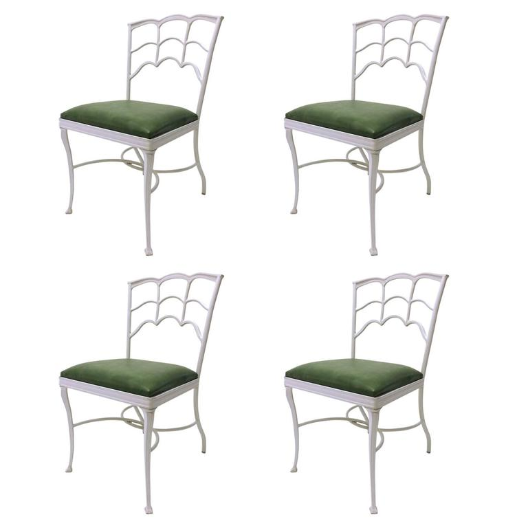 Set of Four Outdoor Chairs For Sale
