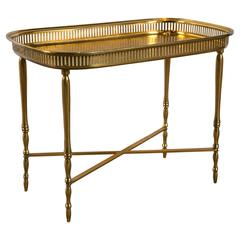 English Brass Tray Table