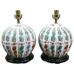 Pair of Chinese Lamps