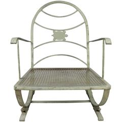Vintage Wrought Iron Turtle Lounge Chair