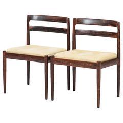 Kai Kristiansen Side Chairs Model 301 by Magnus Olesen in Denmark