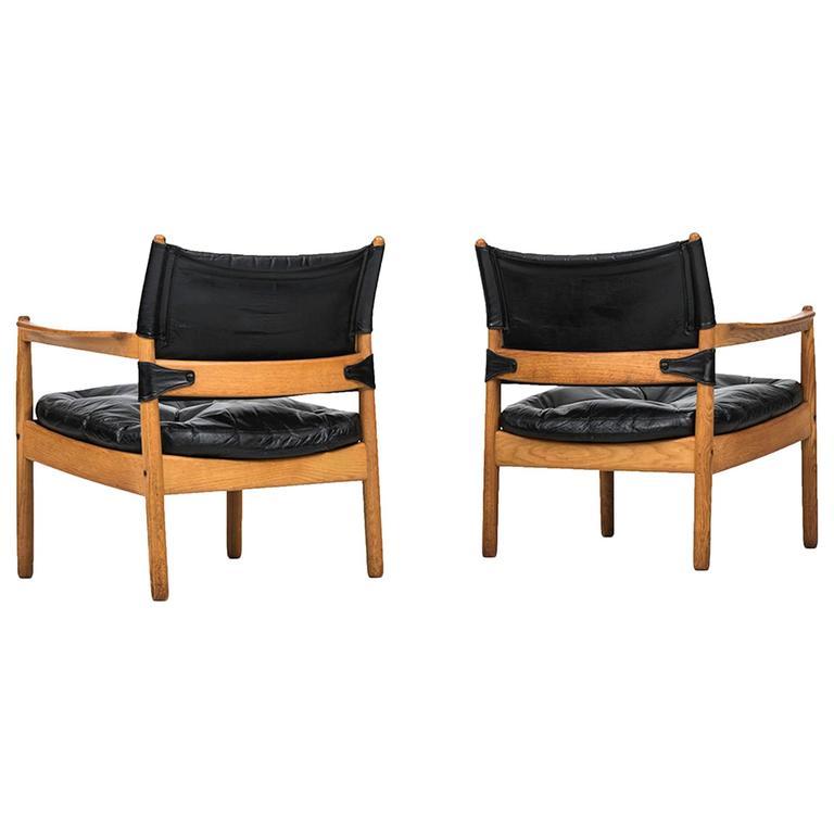 Gunnar Myrstrand Easy Chairs by Källemo in Sweden