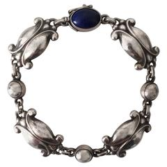 Georg Jensen Sterling Silver Bracelet with Lapis Lazuli