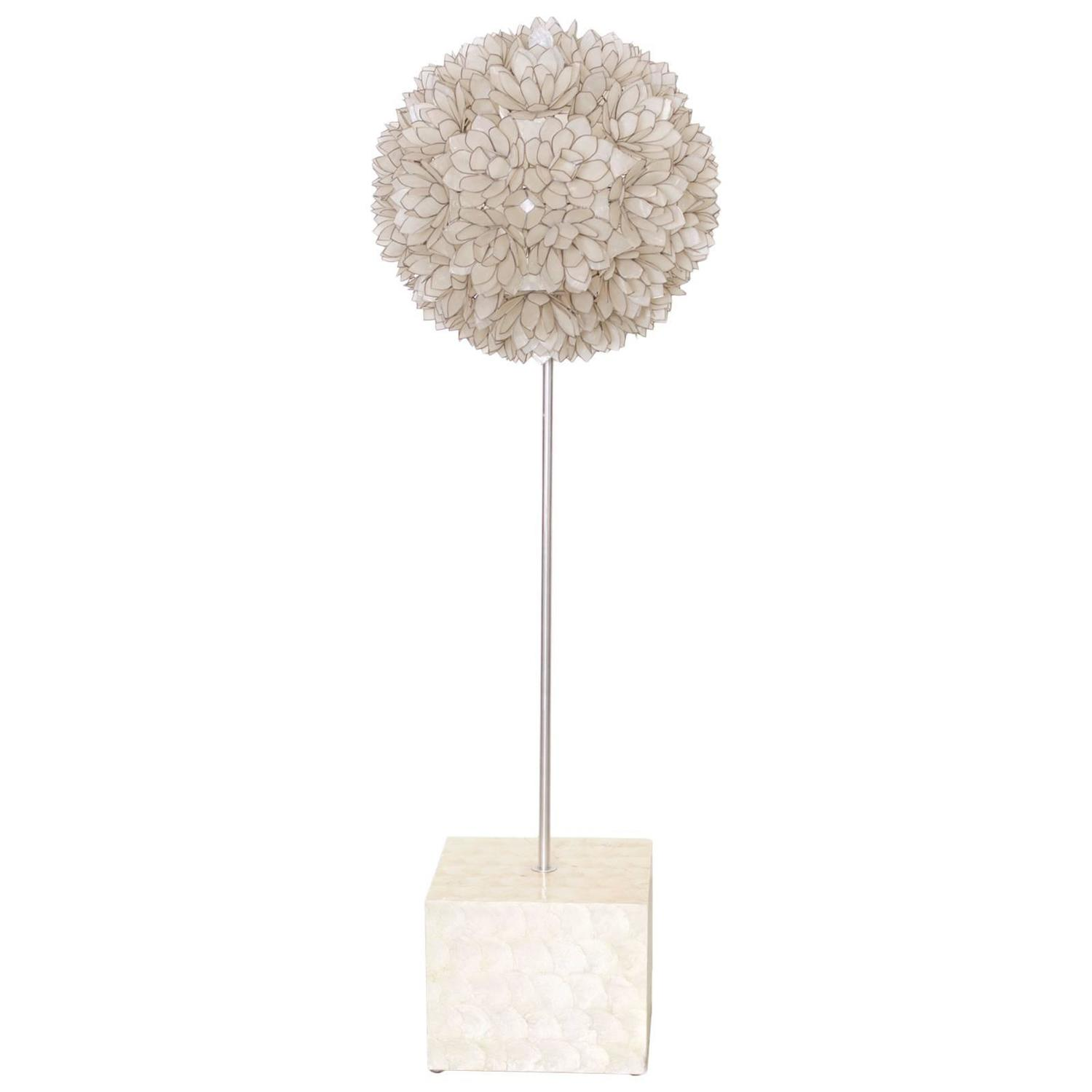 huge capiz of mother of pearl shell floor lamp for sale at. Black Bedroom Furniture Sets. Home Design Ideas
