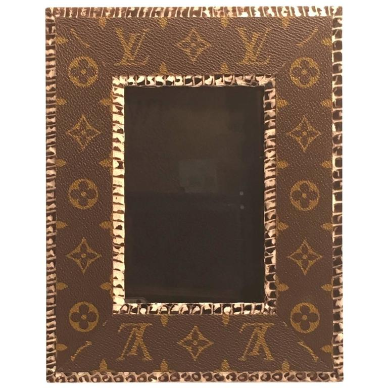 Picture Frame Made From Recycled Louis Vuitton Bags At 1stdibs