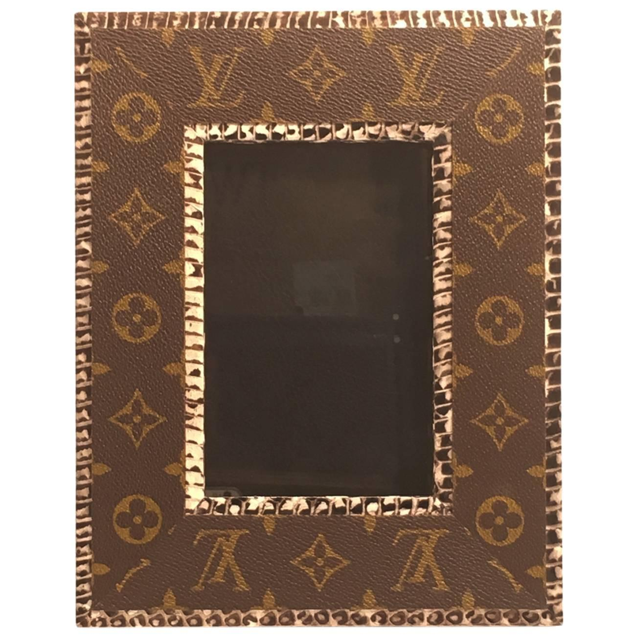 Picture frame made from recycled louis vuitton bags for sale at picture frame made from recycled louis vuitton bags for sale at 1stdibs jeuxipadfo Image collections