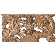 Decorative 18th Century Carved and Gilded Architectural Fragment