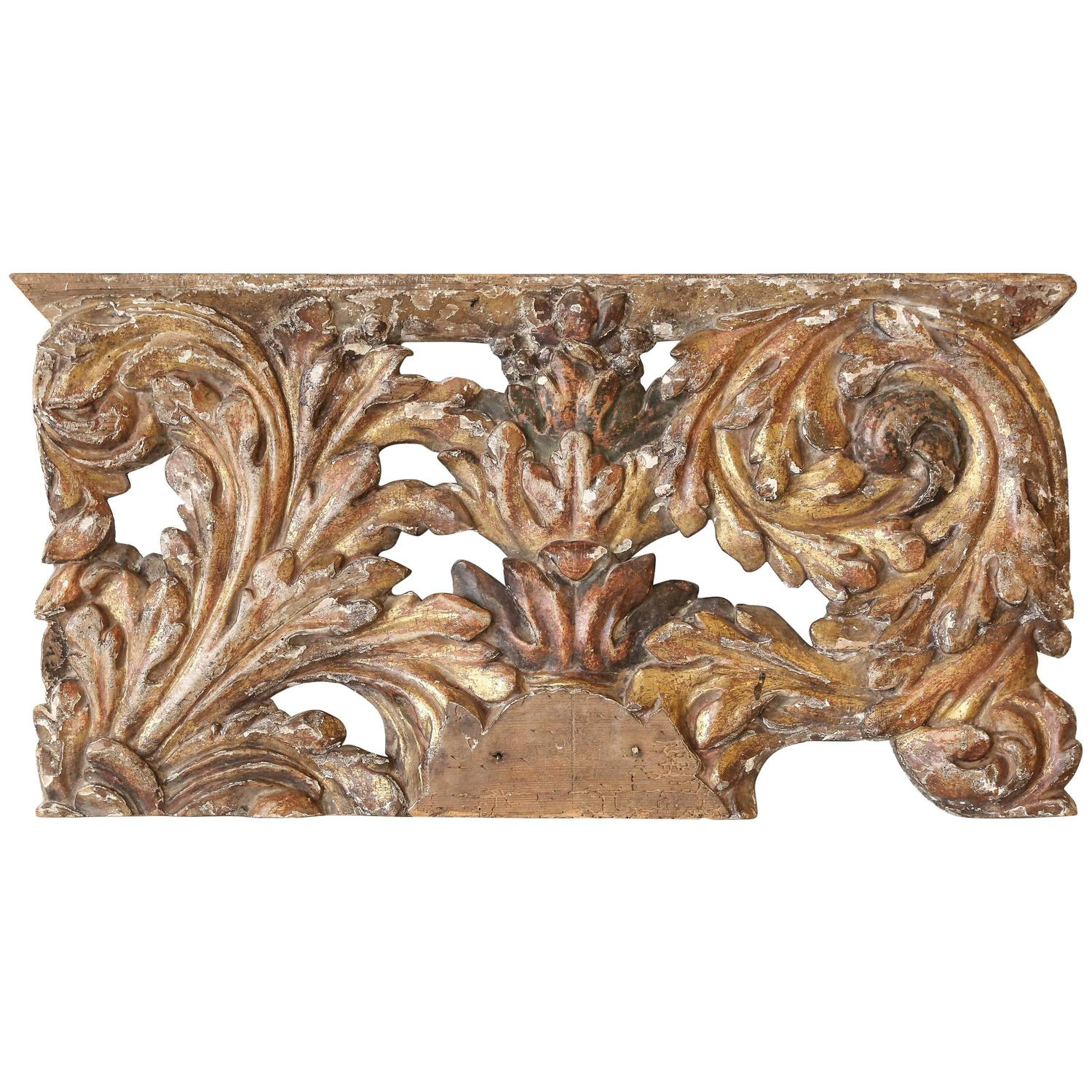 Decorative 18th Century Carved and Gilded Architectural ...