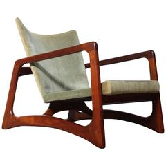 Adrian Pearsall for Craft Associates Walnut Lounge Chair