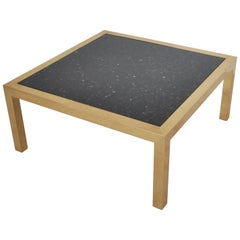 Brass and Stone Coffee Table, circa 1970