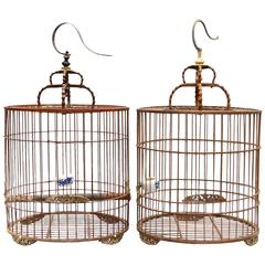 Pair of Antique Chinese Birdcages