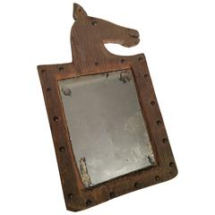 "Folk Art ""Horse Effigy"" Mirror, 1987"