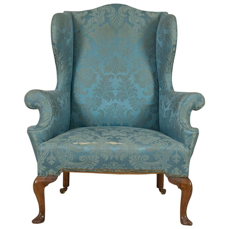Queen Anne Walnut Wing Chair circa 1710 at 1stdibs