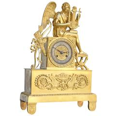 French Directoire Ormolu Bronze Clock
