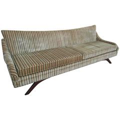 Stunning Splayed Walnut Legs Sofa Mid-Century Modern