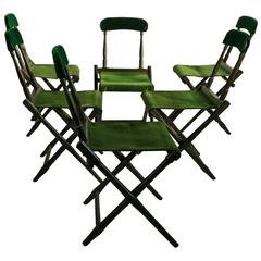 Set of Six Folding Camp Chairs, B.J.Harrison Son Co.