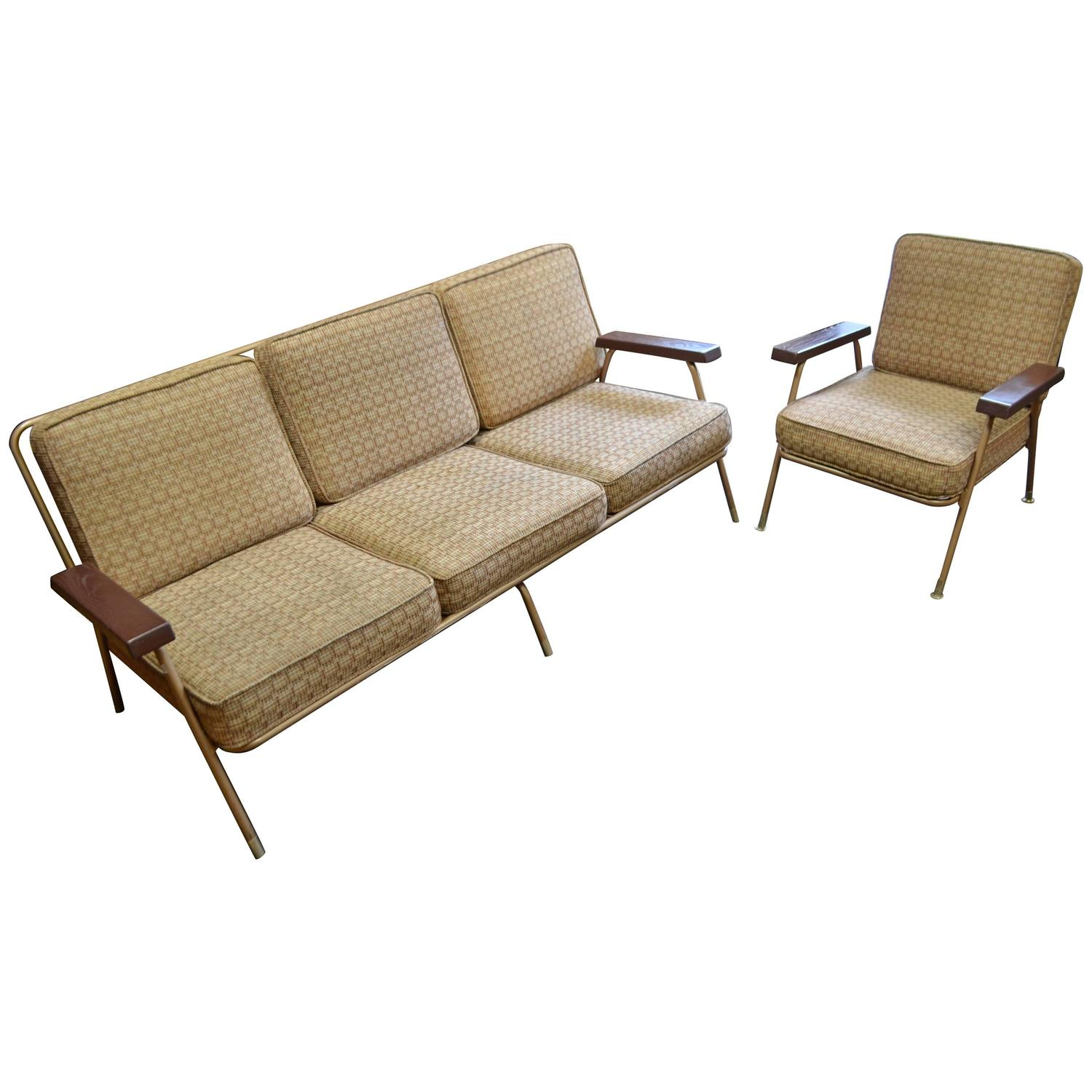 Midcentury sofa with matching lounge chair at 1stdibs for Matching lounge furniture