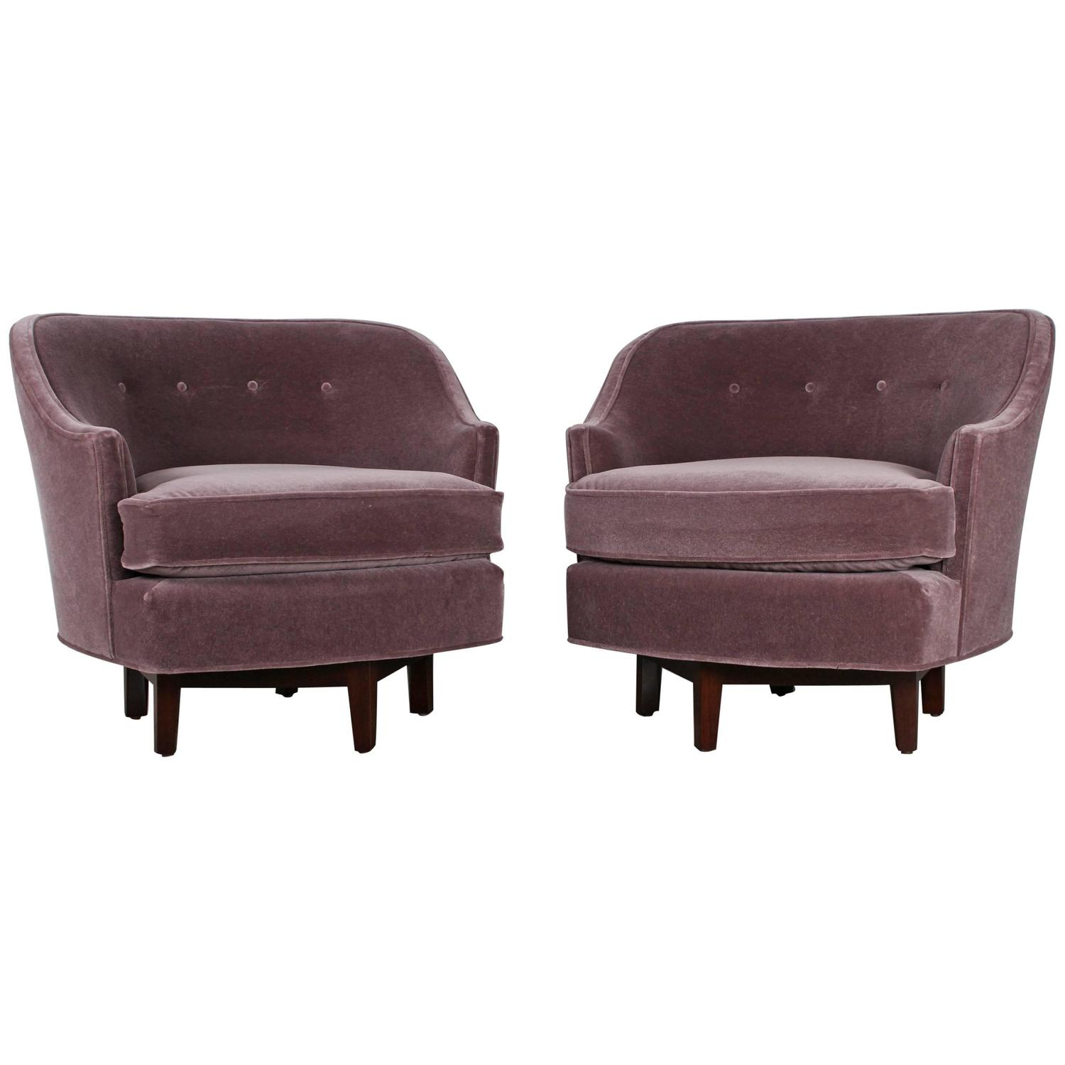 Pair of Dunbar Swivel Chairs by Edward Wormley For Sale at 1stdibs