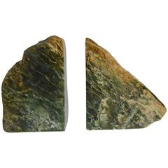 Pair of Green Stone Fragment Bookends