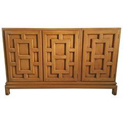 Asian Modern Three-Door Cabinet by Renzo Rutili, 1960s