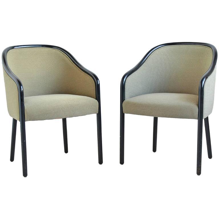 Ward Bennett Pair of Armchairs by Brickel