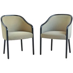 Ward Bennett Pair of Armchairs by Brickel
