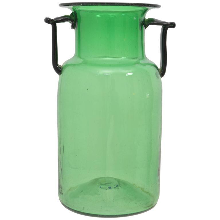 Emerald Green Glass Vase