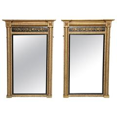 Pair of Neoclassical Pier Mirrors