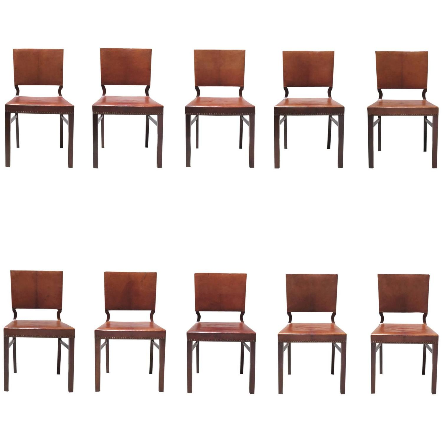 Set of Ten Dining Chairs in Mahogany and Nigerian Goatskin  : 3533402z from www.1stdibs.com size 1500 x 1500 jpeg 85kB